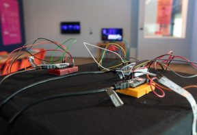 arduino boards with wires coming out from them
