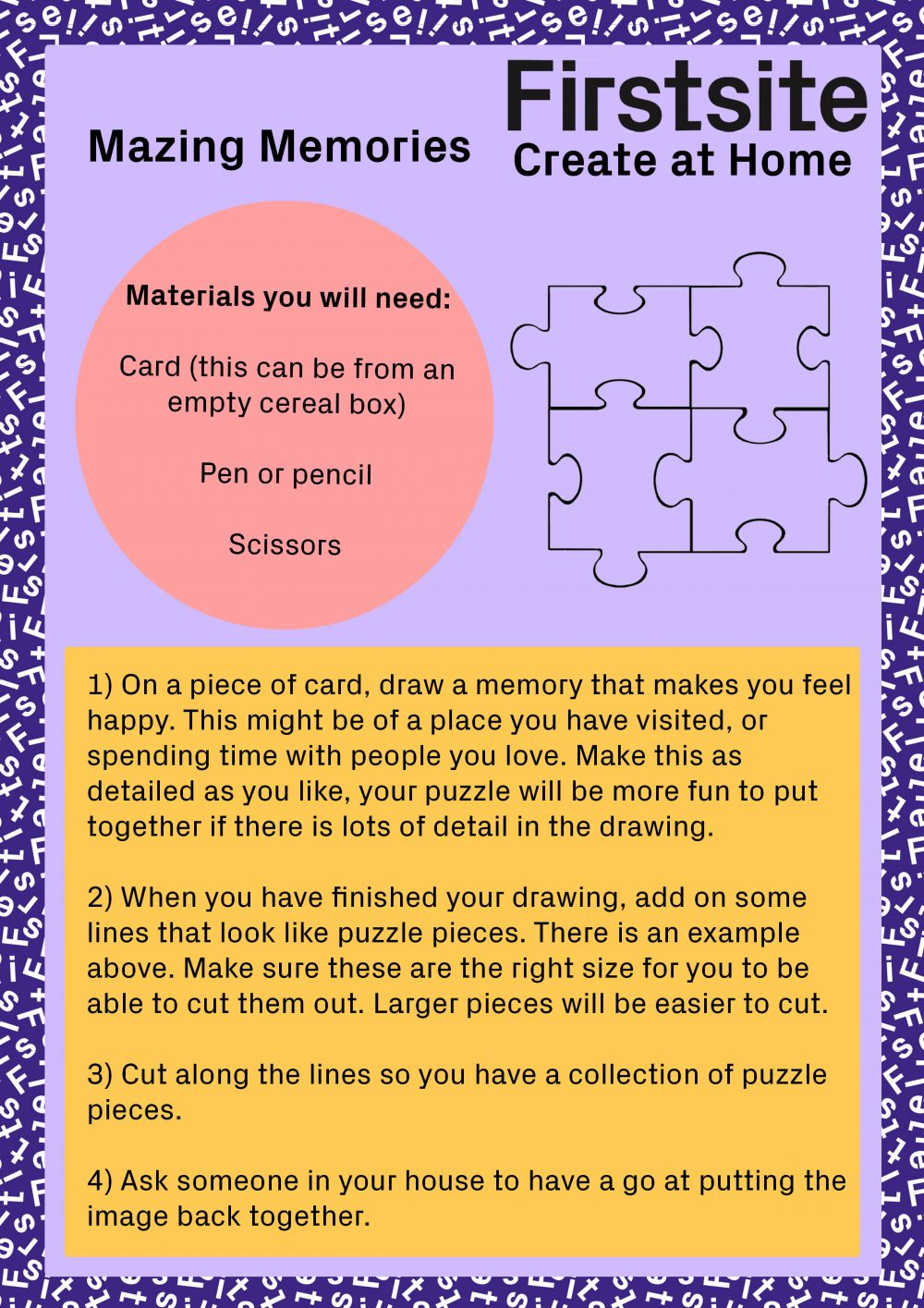 instructions for how to make a memory puzzle