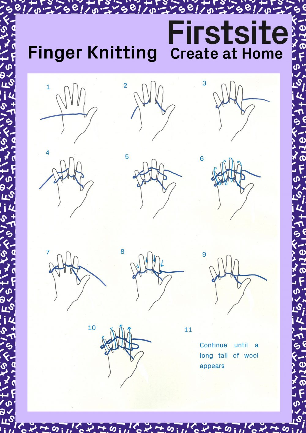 Instructions for finger knitting page 3 of 3