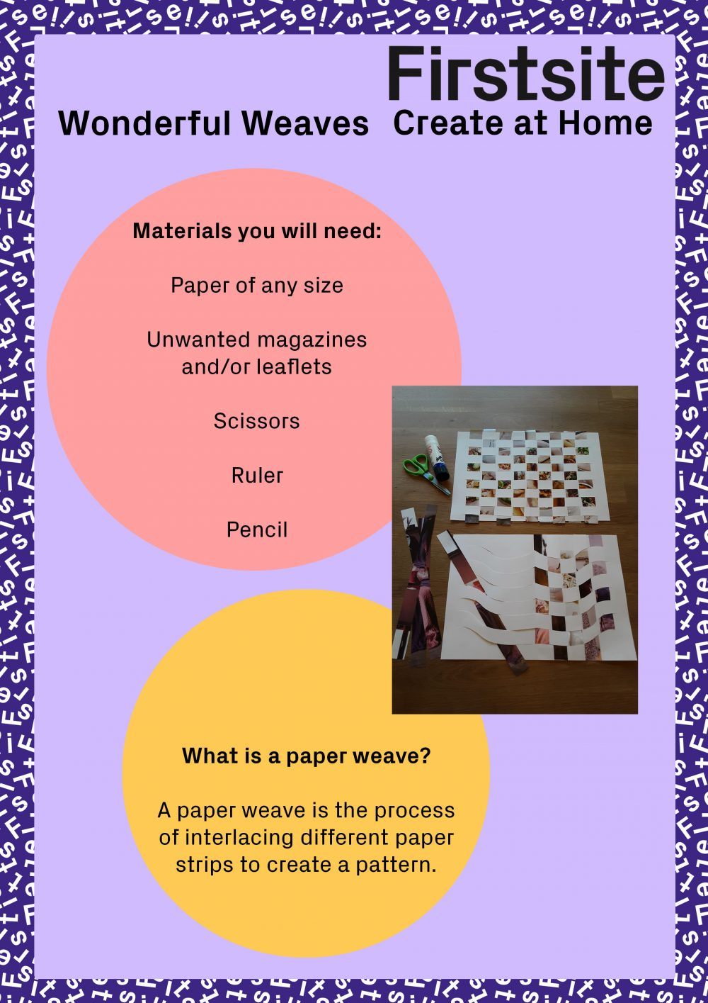 instructions for how to make a paper weave