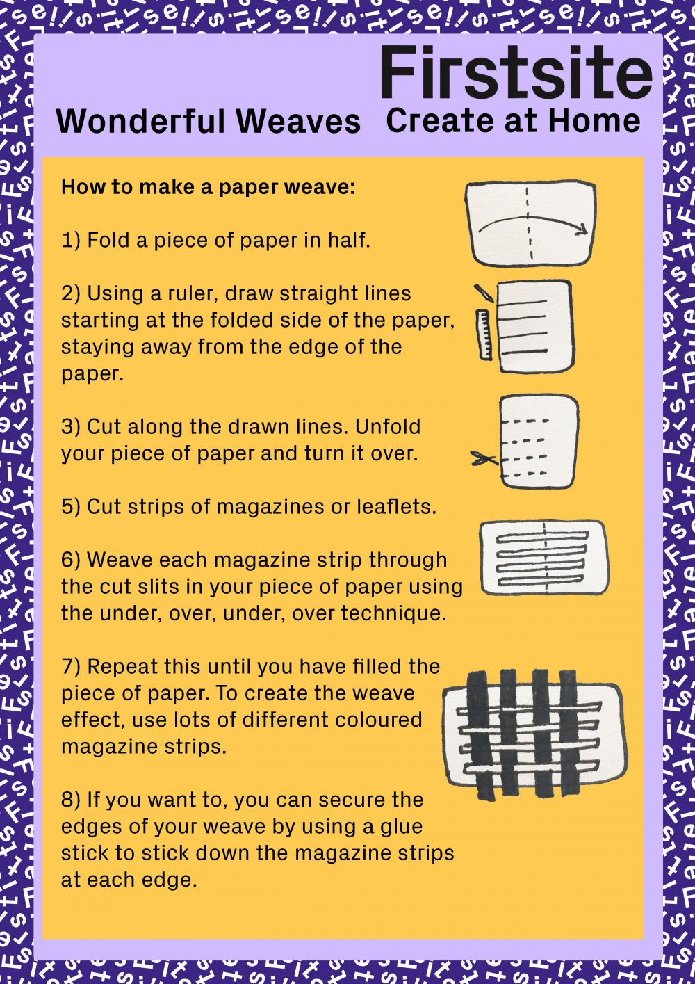 instructions on how to make a paper weave