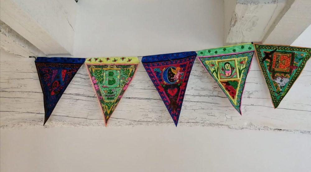 Colourful handmade bunting
