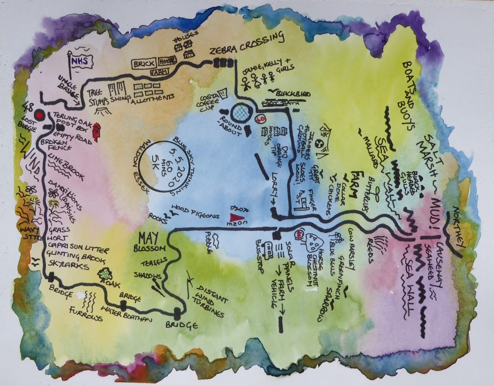 Cyber Mohalla 5.5.20, a map of a walk by Jane Senior