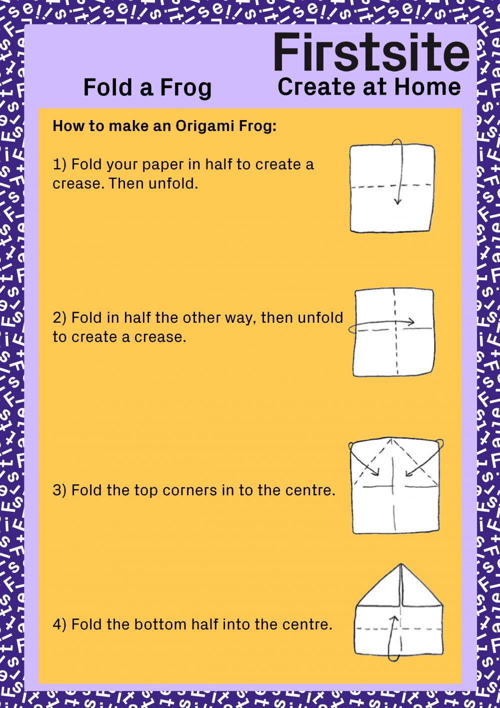 Firstsite Create at Home Fold a Friend Instructions pg 2 of 5