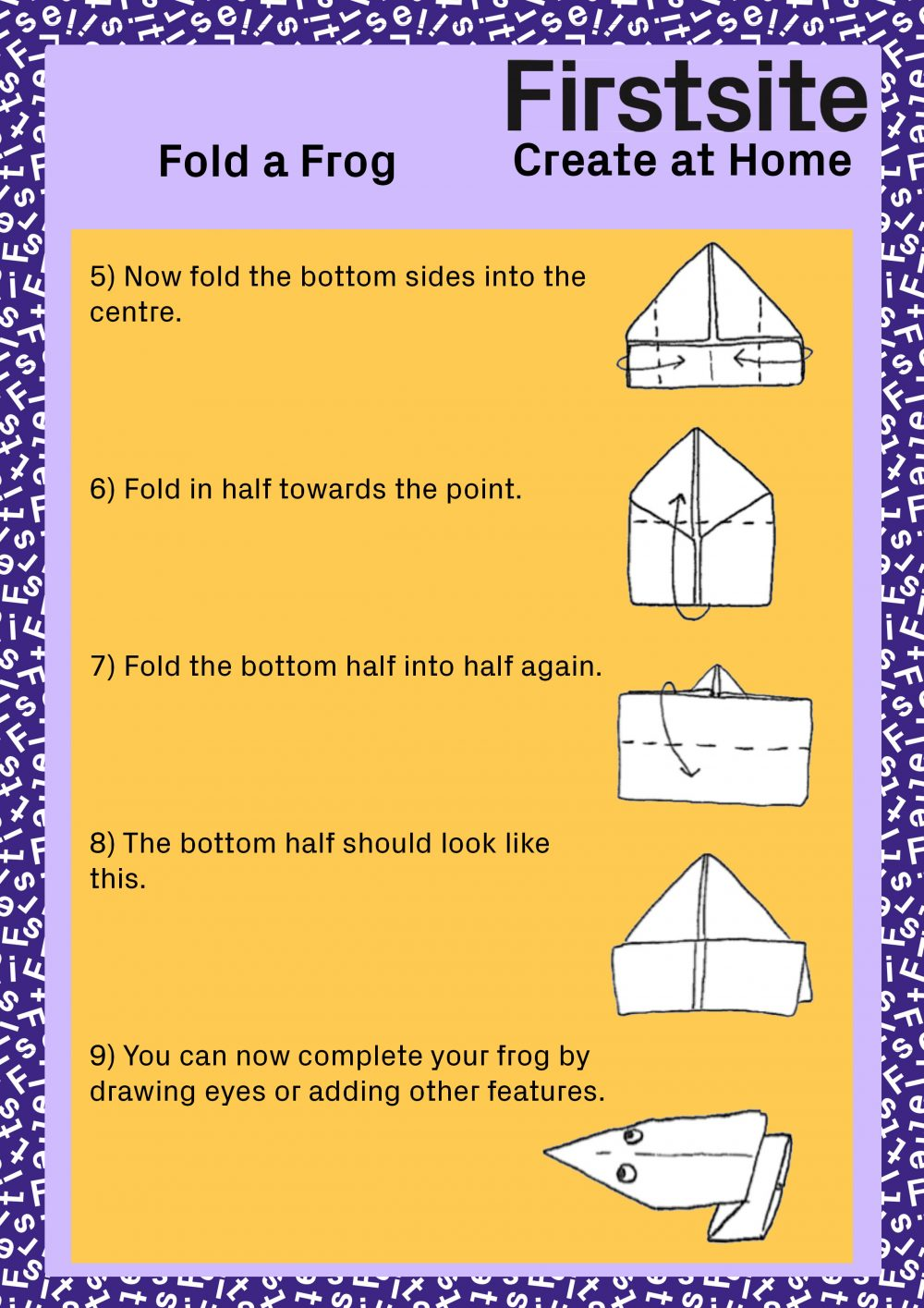 Firstsite Create at Home Fold a Friend Instructions pg 3 of 5