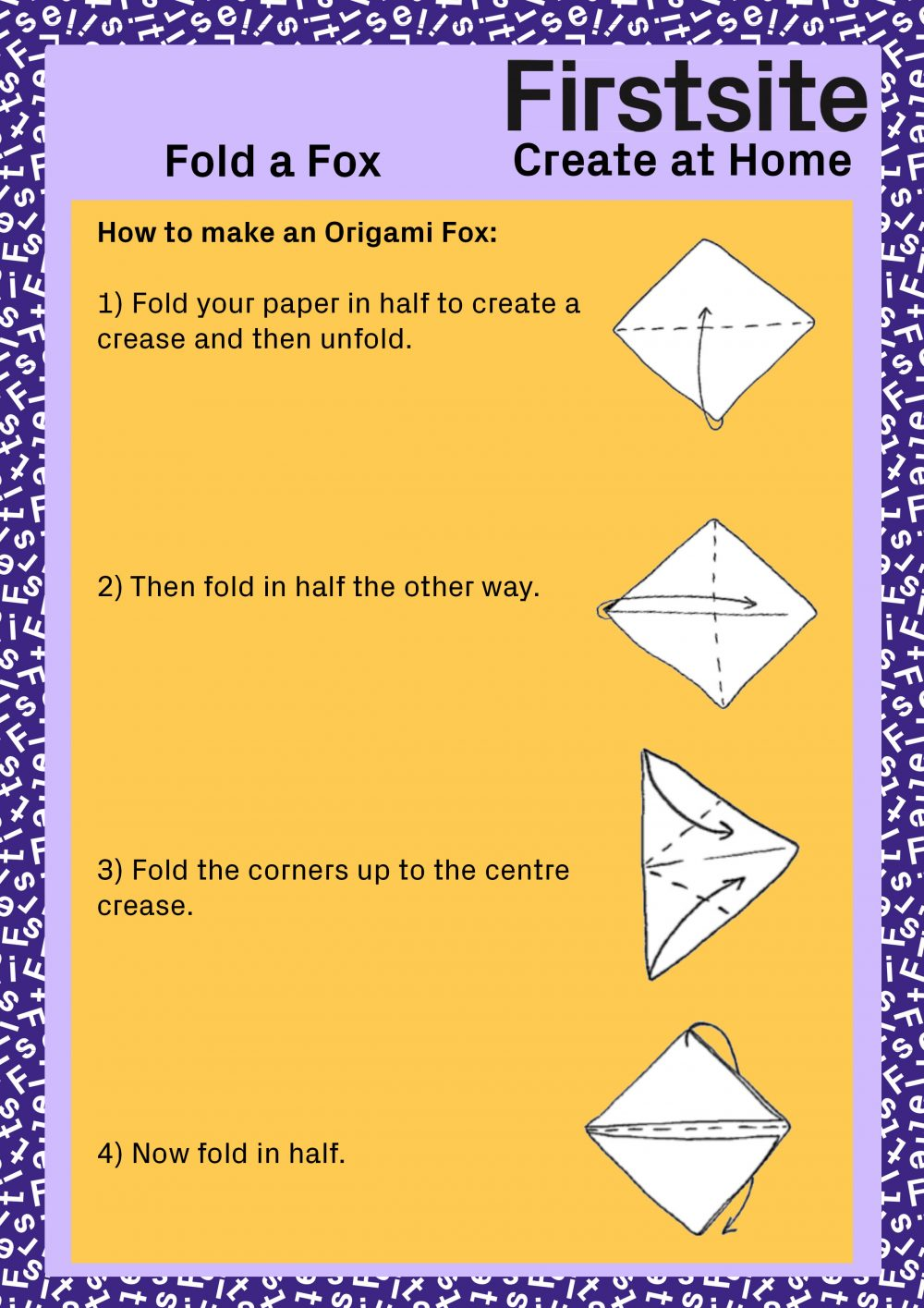 Firstsite Create at Home Fold a Friend Instructions pg 4 of 5