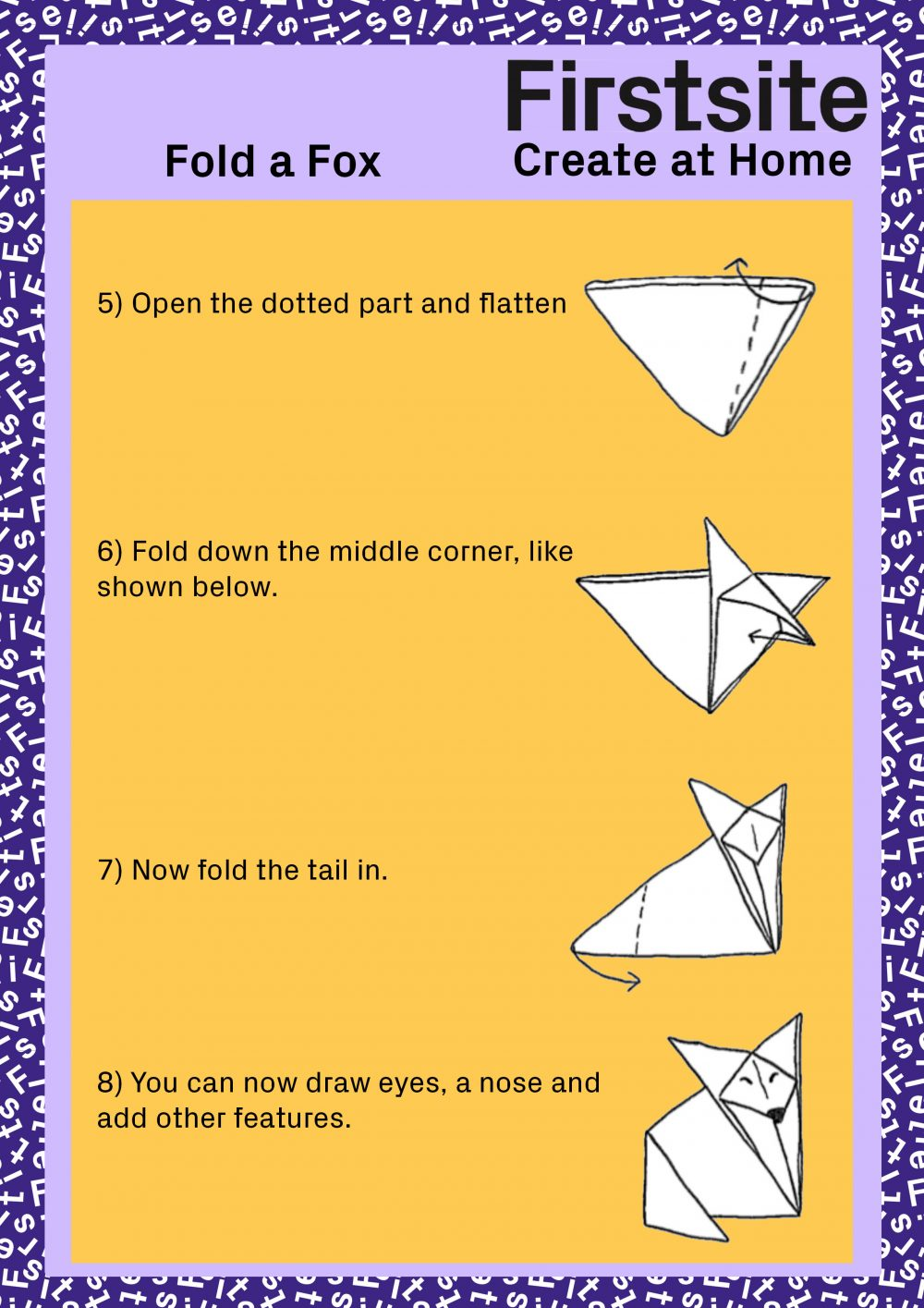 Firstsite Create at Home Fold a Friend Instructions pg 5 of 5