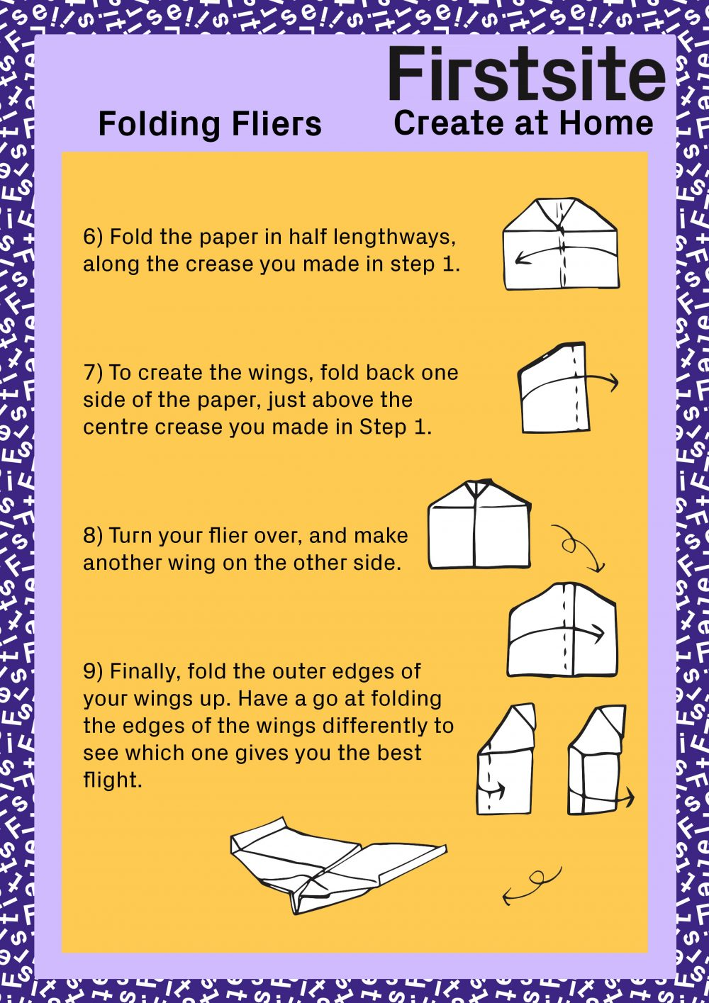 Firstsite Create at Home Folding Fliers Instructions page 3 of 3