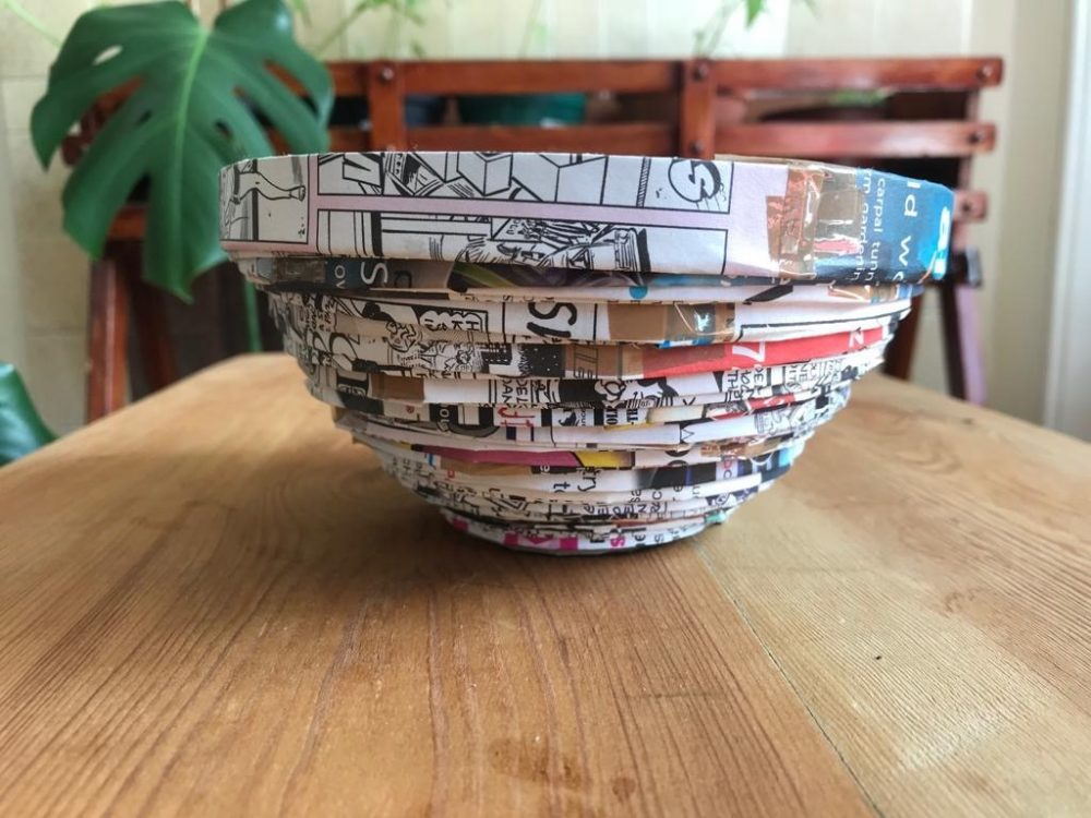 Create at Home Paper pot making activity