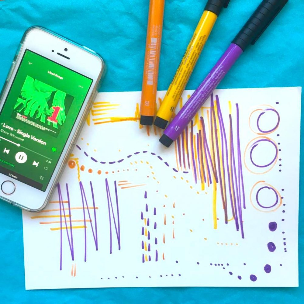 Firstsite Create at Home Dancing Drawings art activity