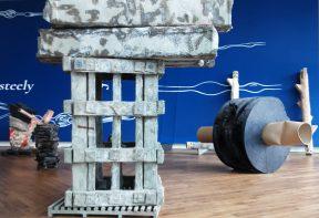 Phyllida Barlow sculptures in Firstsite's Welcome Area