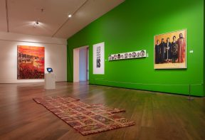 artworks installed in the exhibition 'My name is not refugee' at Firstsite gallery Colchester