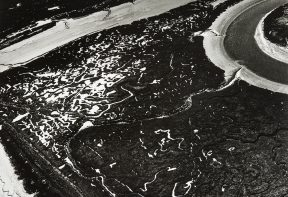 black and white aerial photograph of ancient grazing marsh in Essex