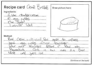 recipe card for creme brulee