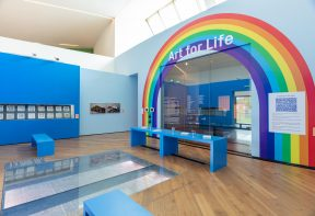 Installation view, Art for Life, Firstsite, 2021 Photograph by Anna Lukala