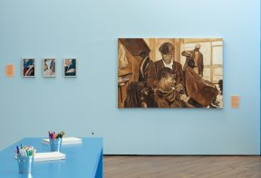 Installation view of Art for Life exhibition